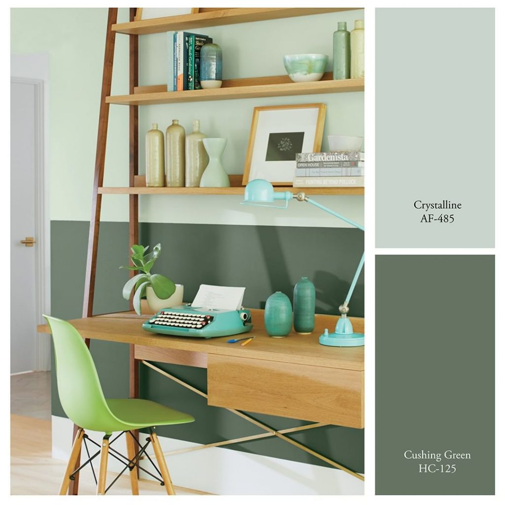 Benjamin Moore Crystalline and Cushing Green