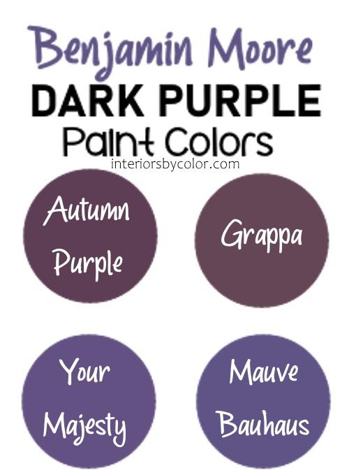 Benjamin Moore Purple Paint Colors