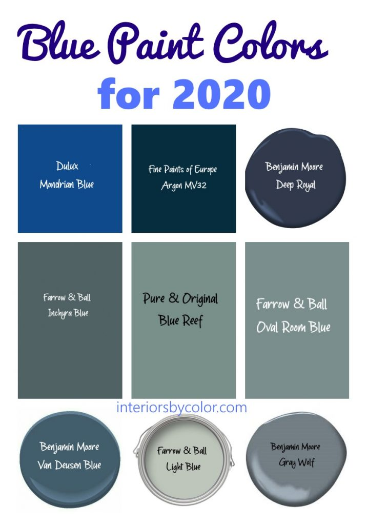 Blue Paint Colors for 2020