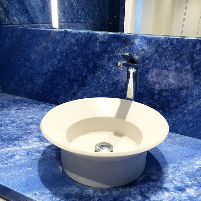Blue marble bathroom and sink