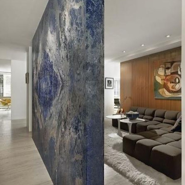 Blue sodalite Marble Wall
