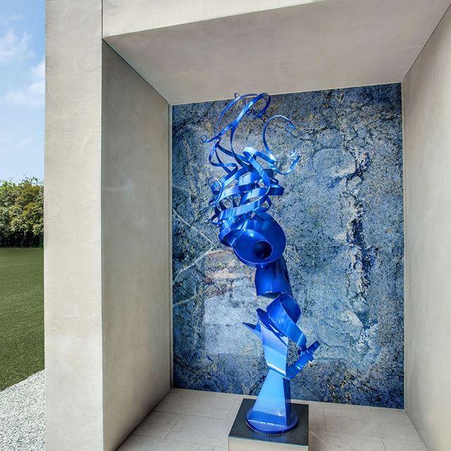 Blue stone exterior design