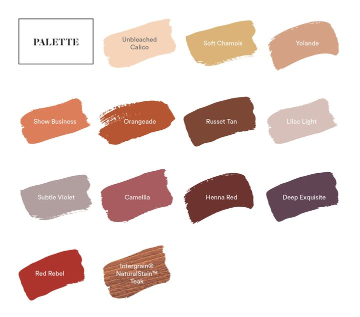 Dulux Indulge paint color palette