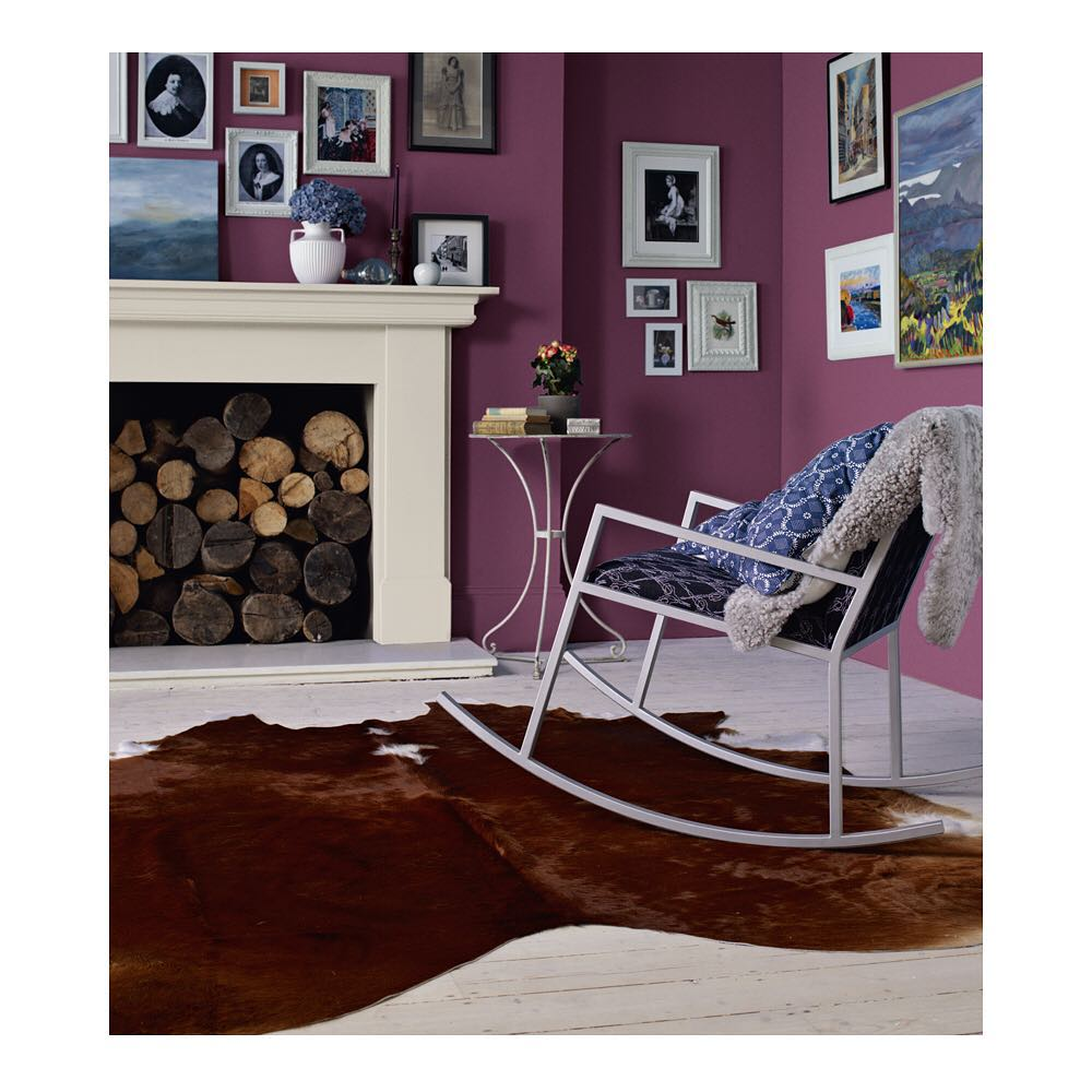 Dulux Mulberry Burst Paint Color living room