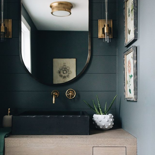 Farrow & Ball Downpipe bathroom