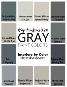 Gray Paint Colors for 2020