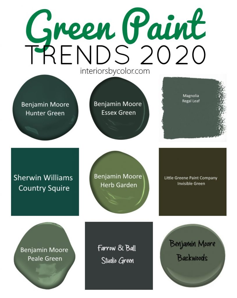 Green paint color trends 2020