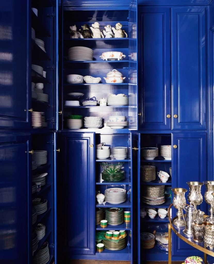 Kitchen Pantry painted in Farrow & Ball Stiffkey Blue