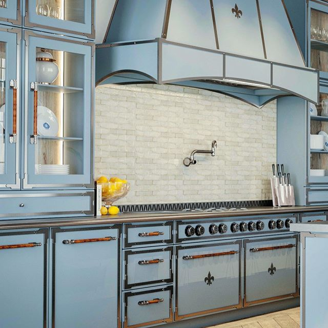 L'Atelier Paris Pastel blue kitchen design