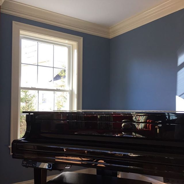 Sherwin Williams Bracing Blue and Antique White