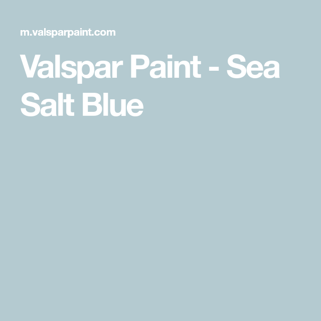Valspar Sea Salt Blue
