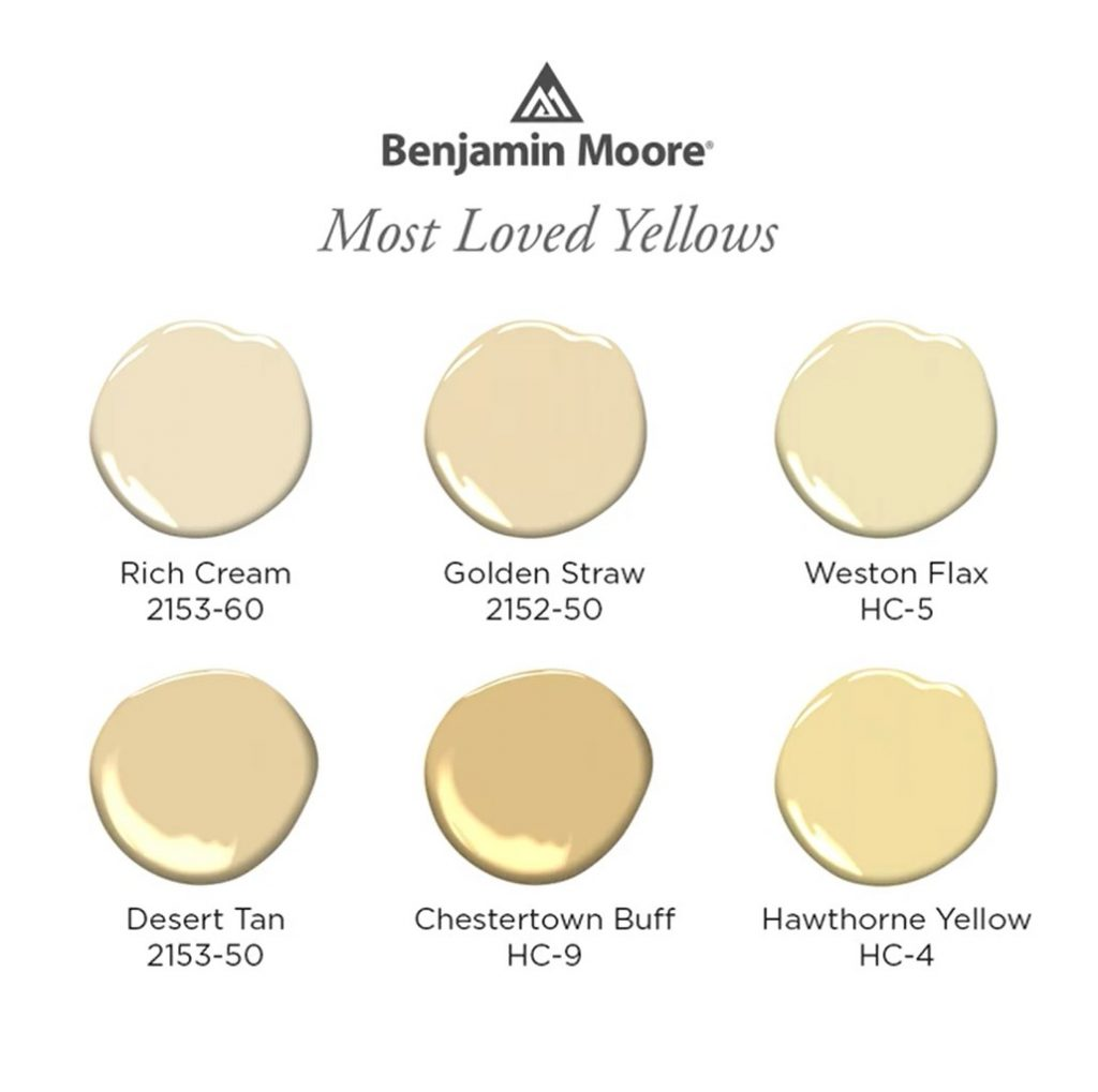 Benjamin Moore Most Loved Yellow Paint Colors