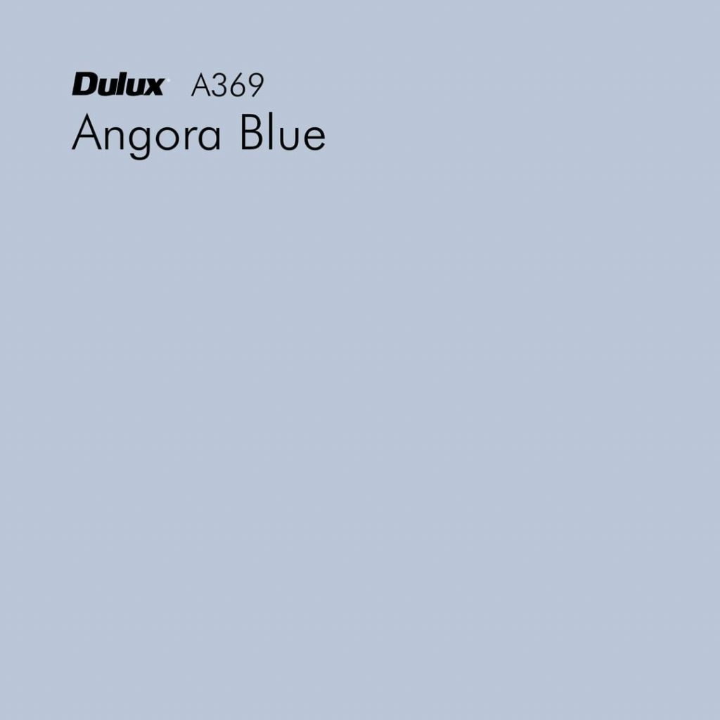 Dulux Angora Blue kitchen island paint
