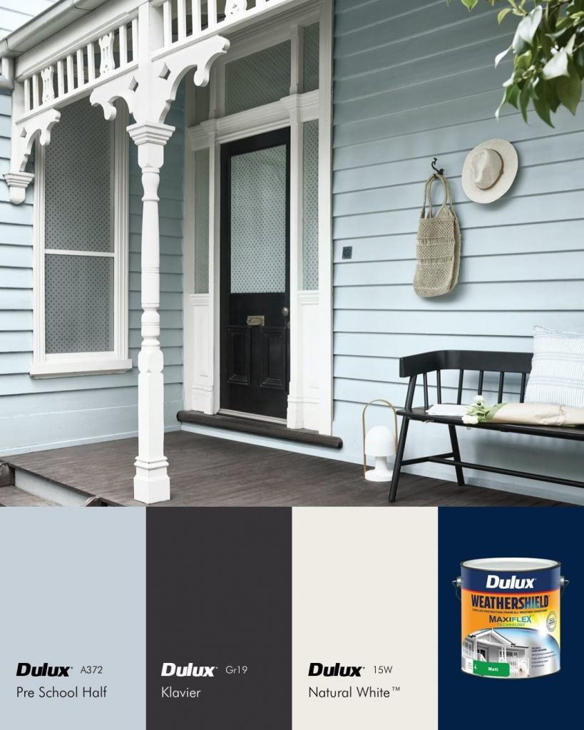 Dulux Pre School Half exterior paint color palette