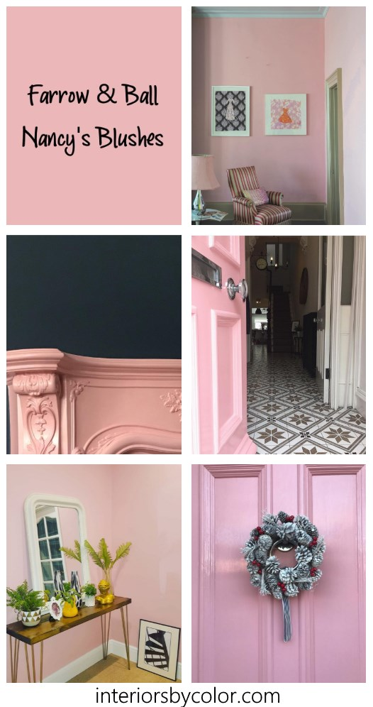 Farrow & Ball Nancy's Blushes Paint Color Scheme