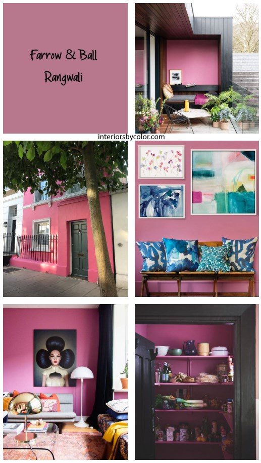 Farrow & Ball Rangwali Pink Paint Color