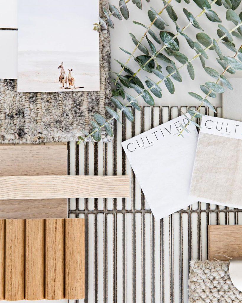 Flat lay interior inspiration natural 2020