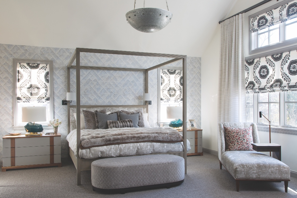 Master bedroom in gray neutral colors