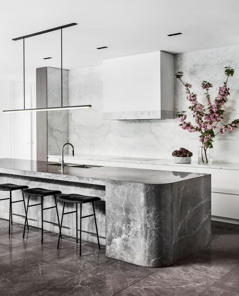Modern marble kitchen trend
