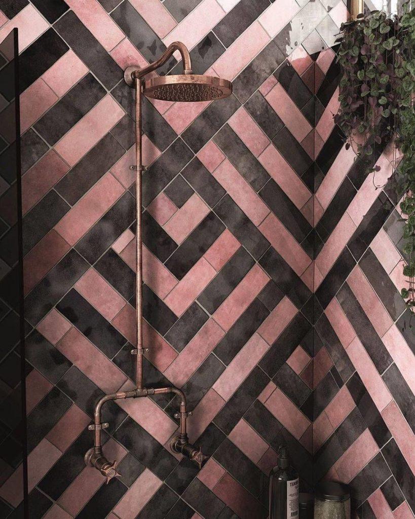 Pink bathroom tiles ideas 2020