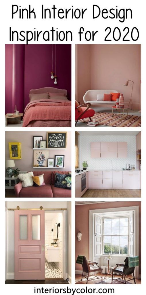 Pink interior design paint colors 2020