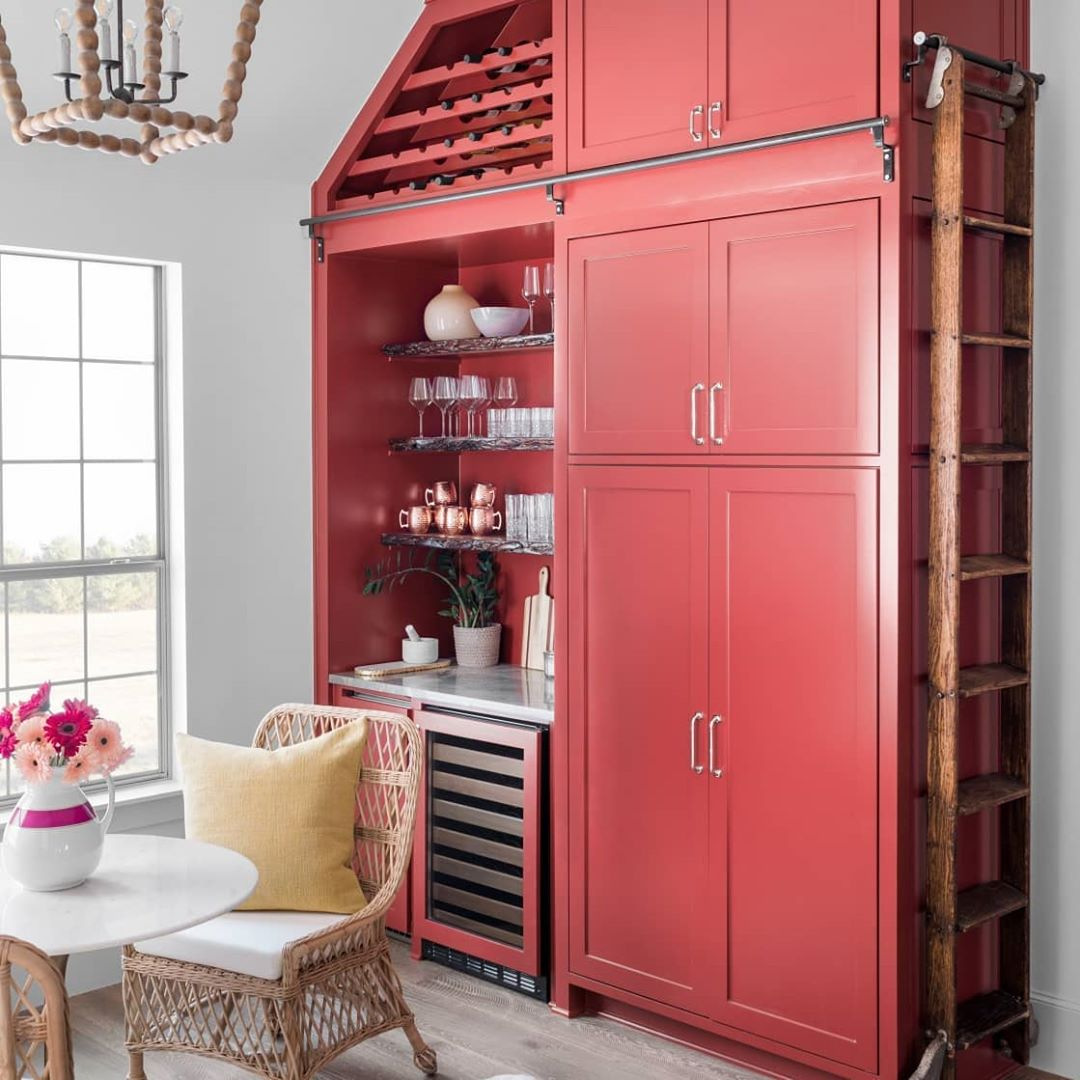 red-kitchen-cabinets-painted-in-benjamin-moore-dinner