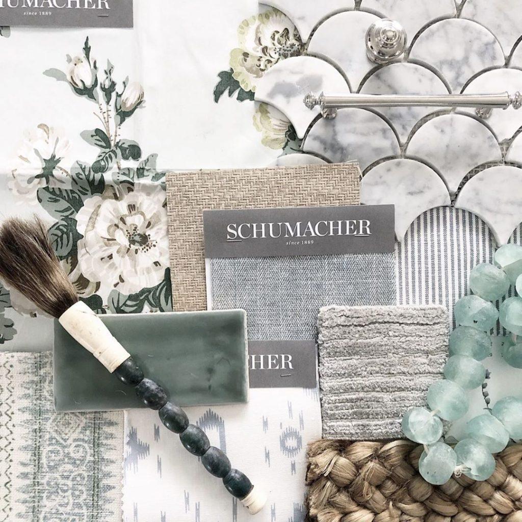 Seafoam classic interior color palette