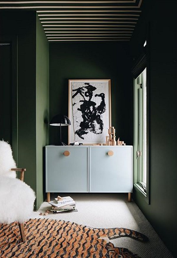 Sherwin Williams Oakmoss green paint color