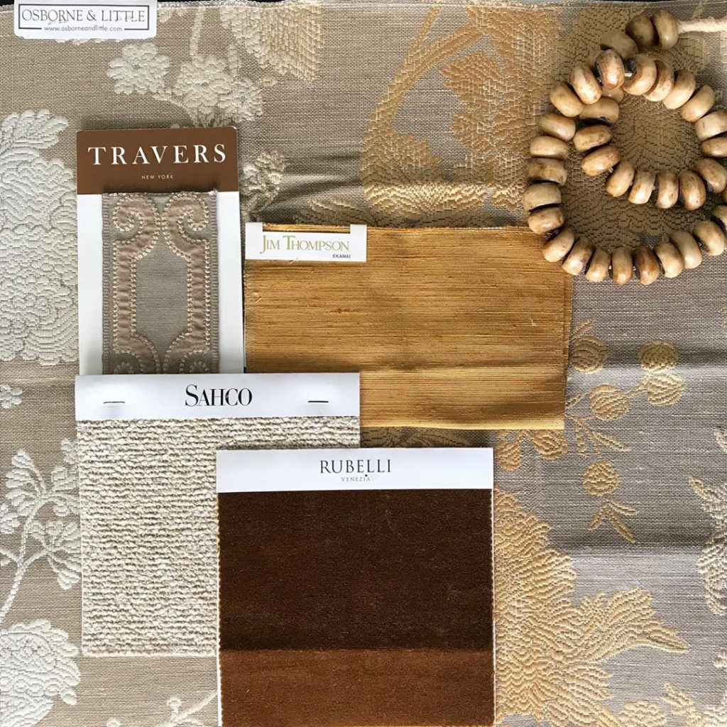 flat lay interior design inspiration in fall colors palette