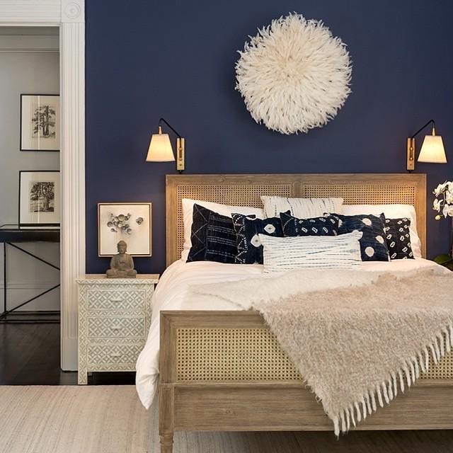 Benjamin Moore Stunning 826 dark gray bedroom paint color