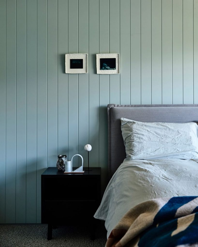 Dulux Milky Spearmint paint color bedroom wall