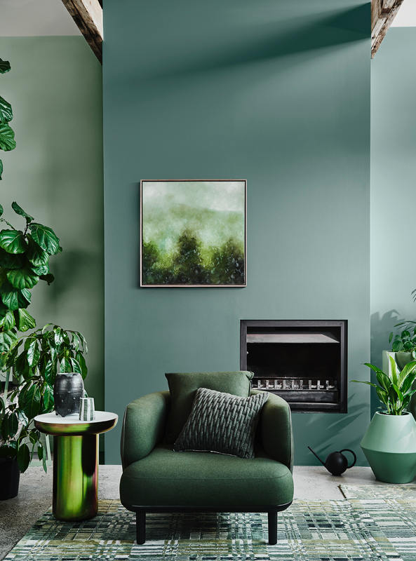 Dulux Paint Color Trend 2020 Green walls