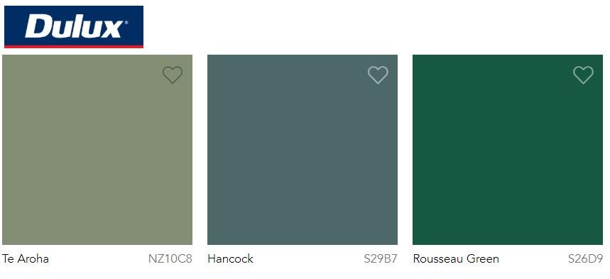 Dulux Paint Trend 2020 Green, Te Aroha, Hancock and Rousseau Green