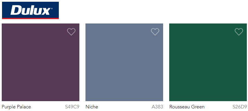 Dulux Paint Trend 2020 Green and purple