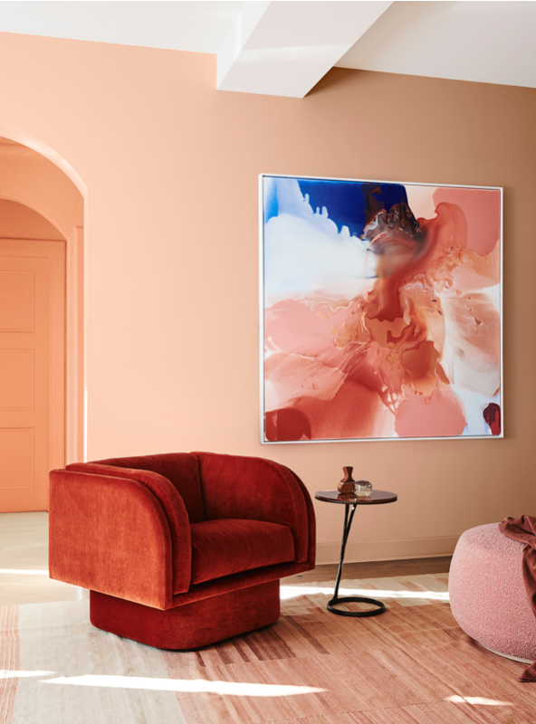 Dulux paint color trend 2020 peach orange walls