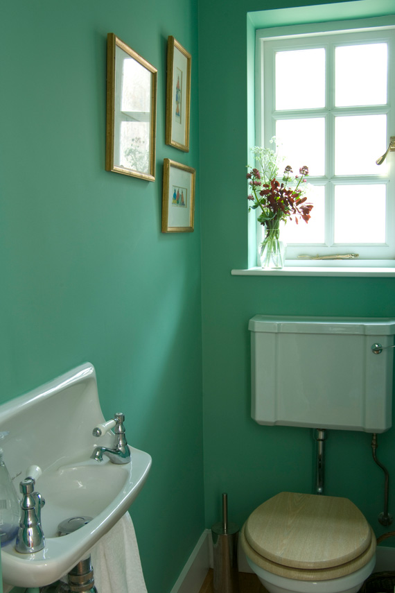 Farrow & Ball Arsenic Bathroom