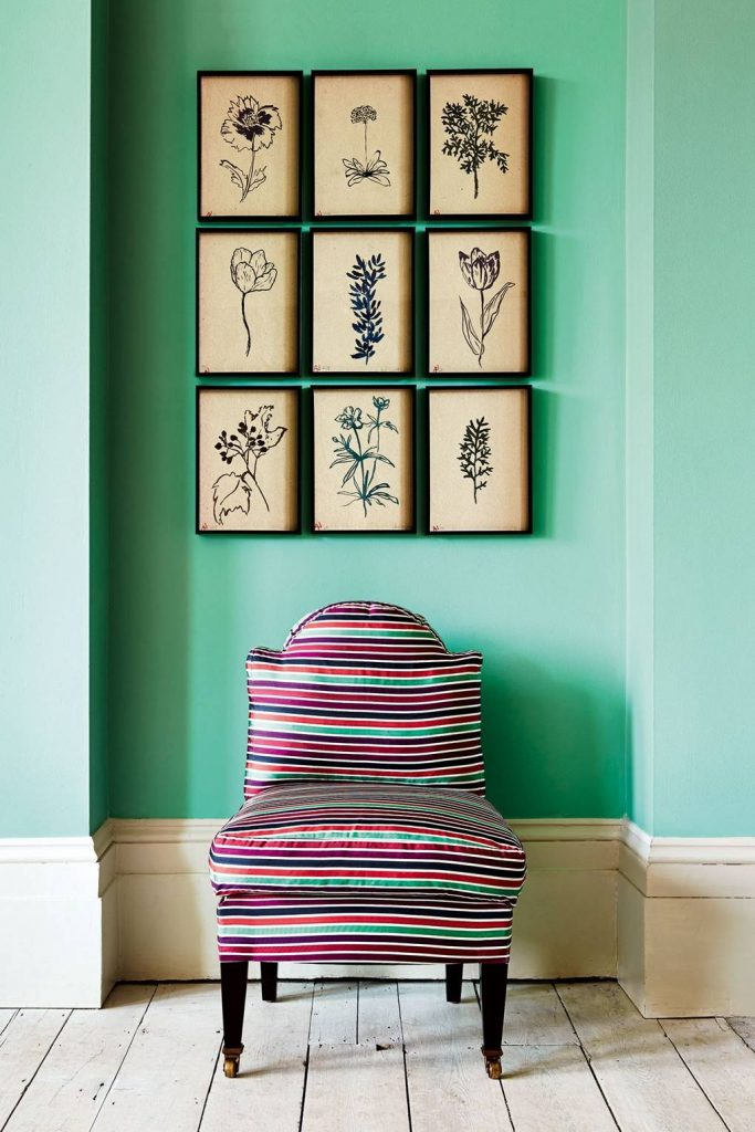 Farrow & Ball Arsenic Mint Green Paint Hallway