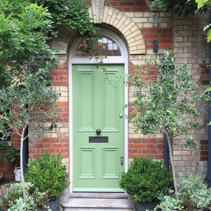 Farrow & Ball Yeabridge Green painted front door