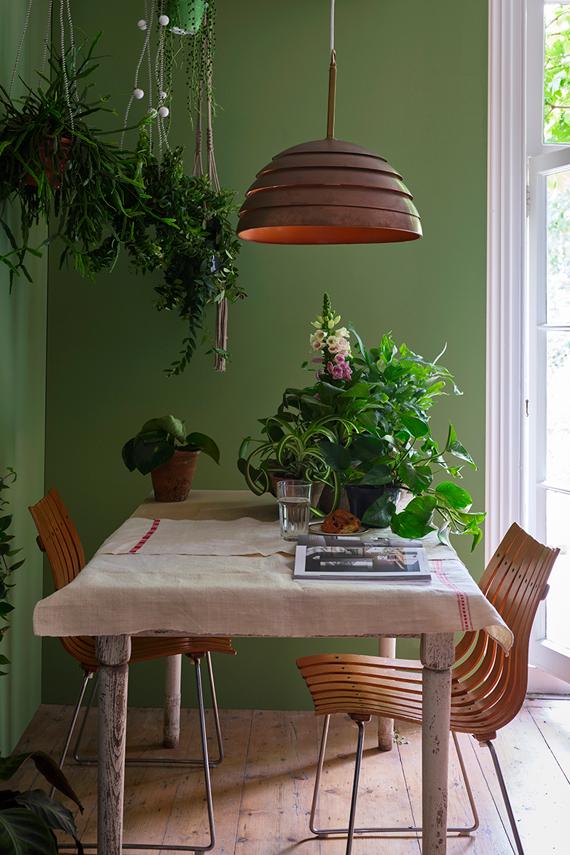 Farrow & Ball Yeabridge Green painted walls