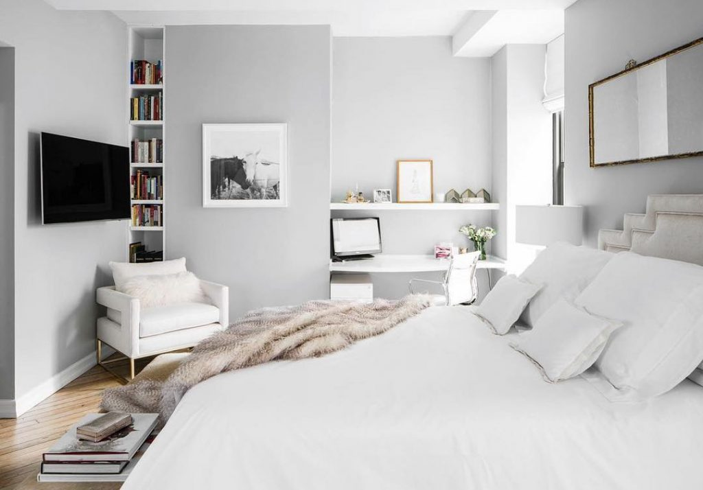 best gray bedroom paint colors BM Stonington Gray