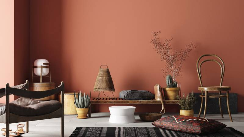 Taubmans Colour Trends for 2021 - Chromatic Joy paint swatches Earthy reds