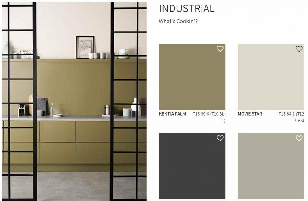 Taubmans Paint Industrial Color Scheme Kitchen