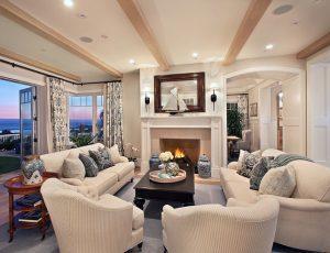 swiss-coffee-OC-45 living room in Benjamin Moore paint