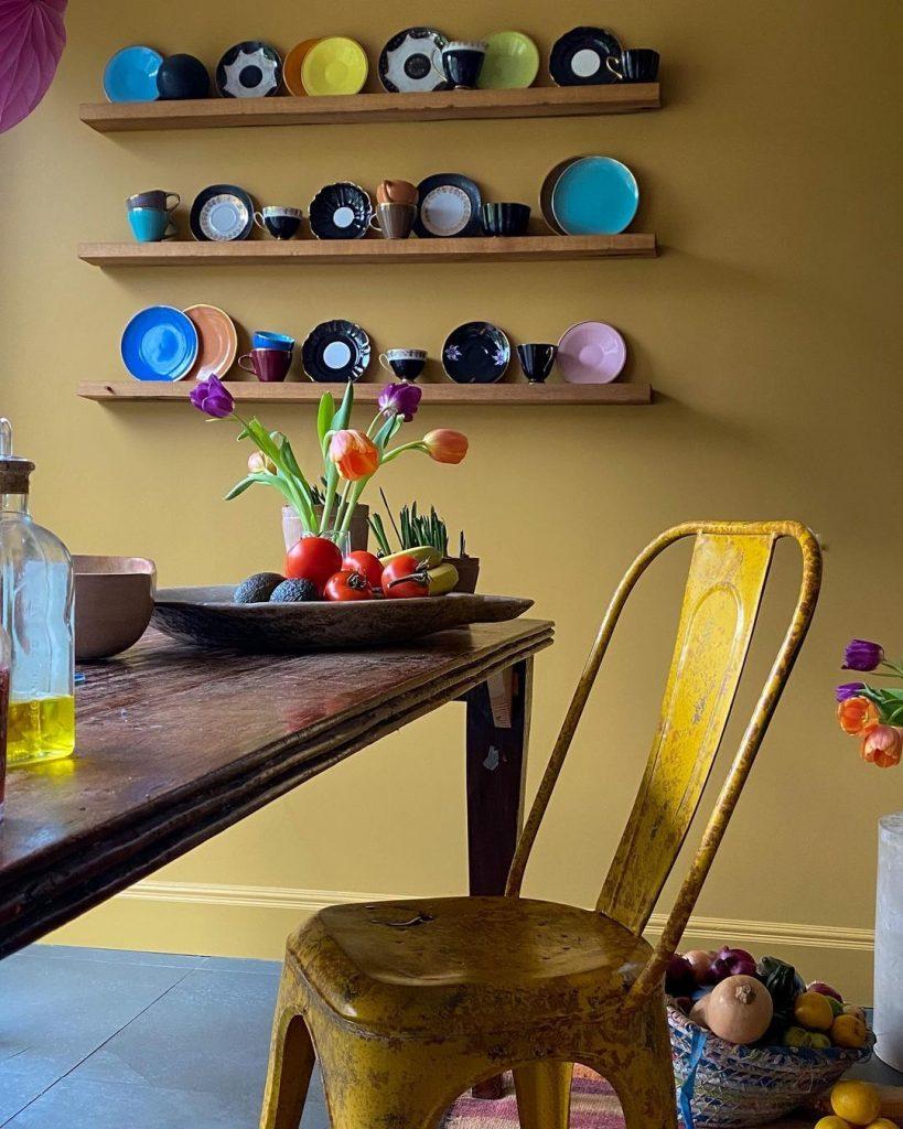 Farrow & Ball India Yellow Kitchen Walls