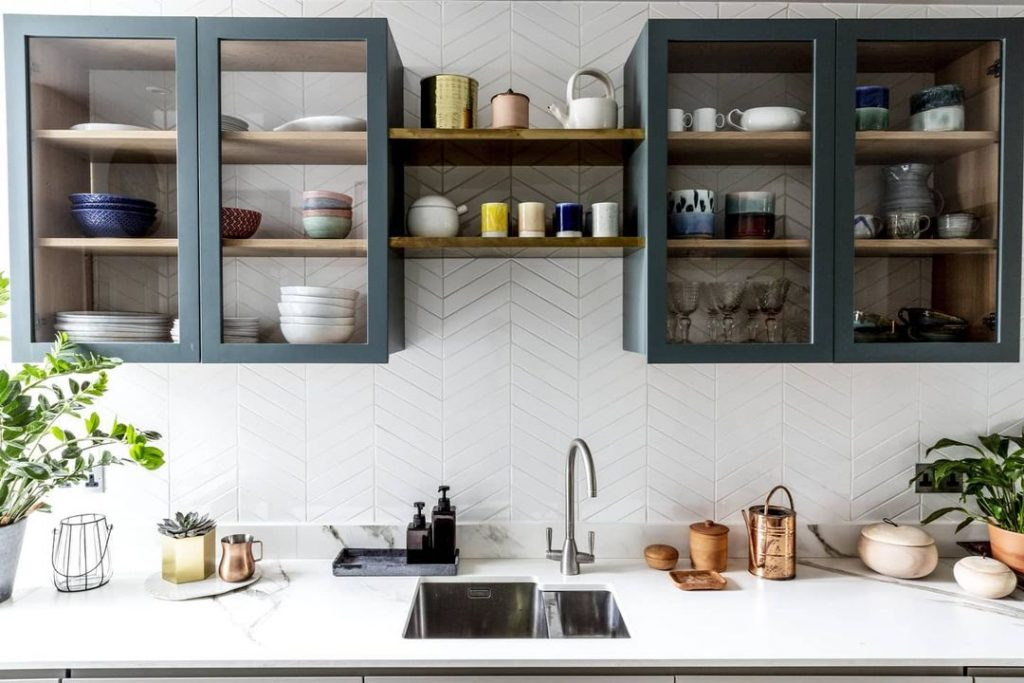 Glazed Cabinetry Contemporary Kitchen