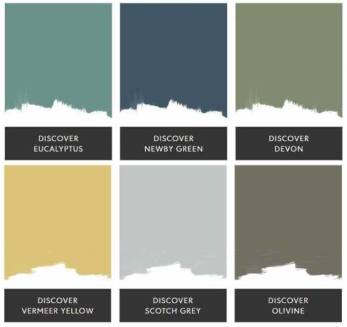 Sanderson Most Loved Paint Colours swatches 2021