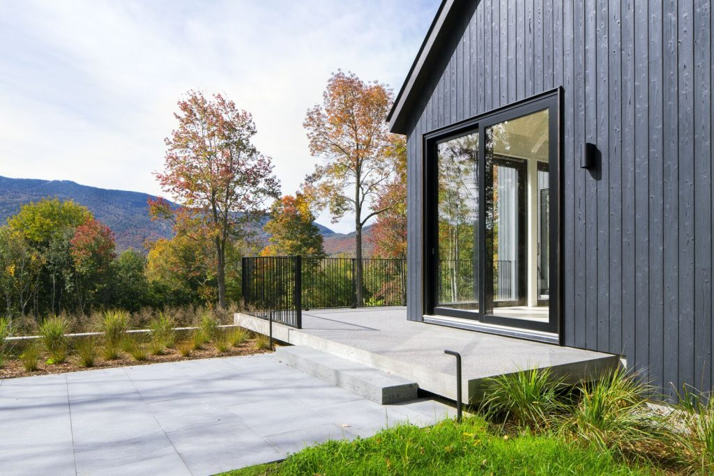 Minimal maintenance modern farmhouse exterior