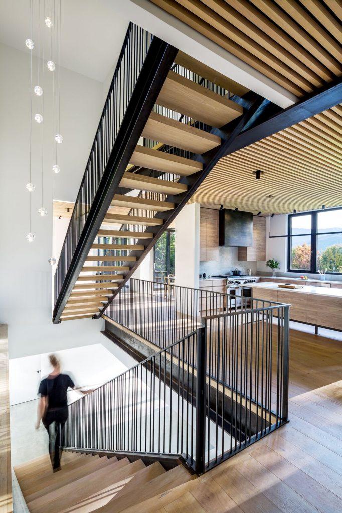 Modern farmhouse staircase design