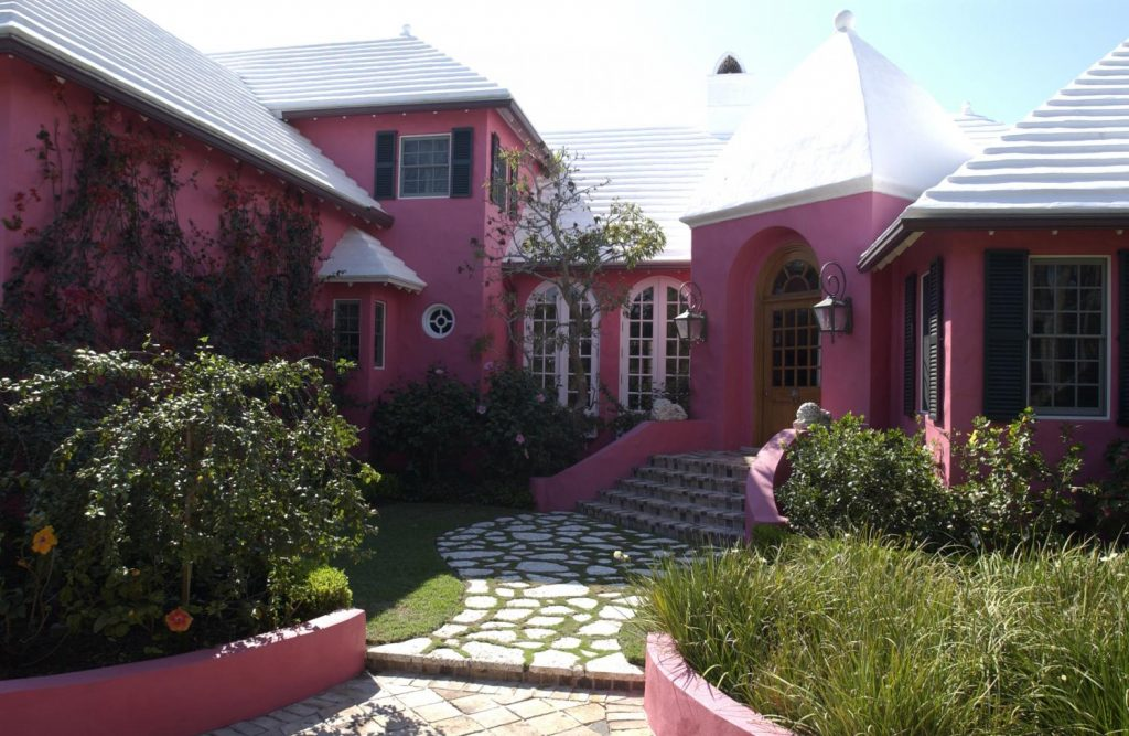 Pink House painted exterior