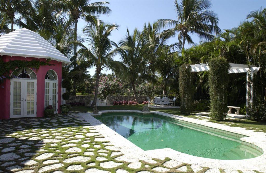 pink poolhouse